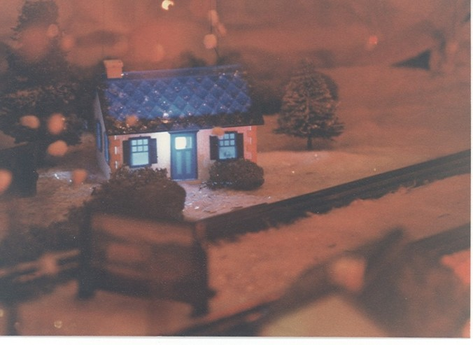 Christmas Blue House