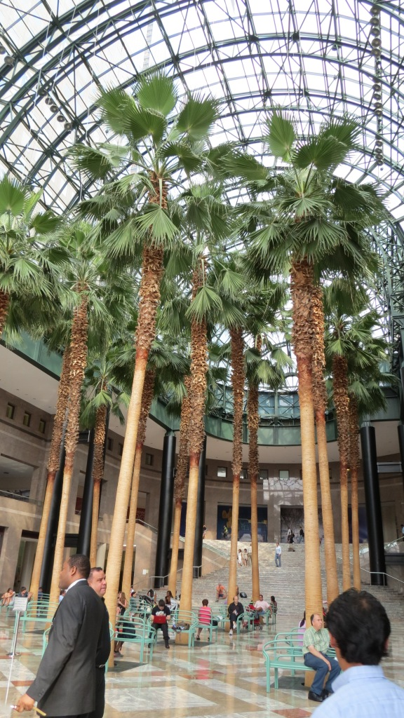The rebuilt Palm Court.