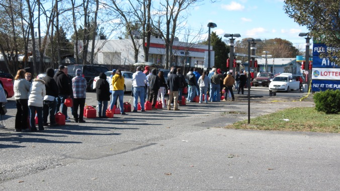 Hurricane Sandy Gas Line