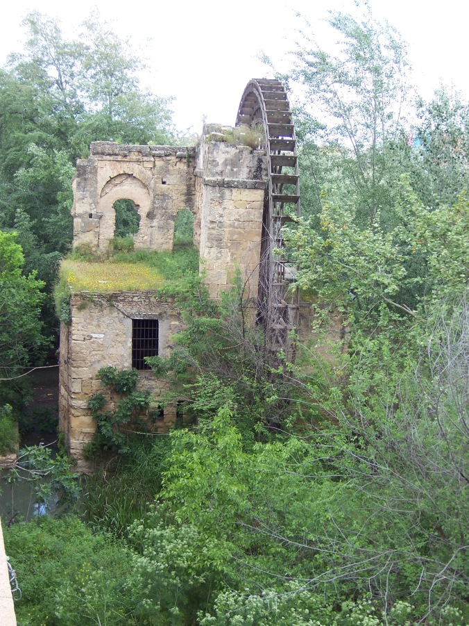 The ruins of a water wheel in Cordoba.  This did not appear in any guidebook, but I like the way nature overtakes something not in use.