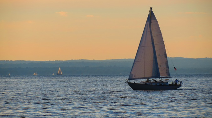 A sunset sail on Long Island Sound.