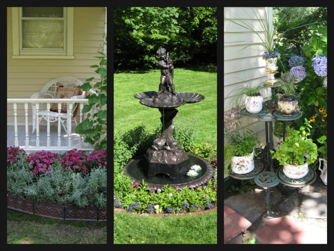 My friends Catherine & Robert have added numerous Victorian fixtures to their Long Island garden.