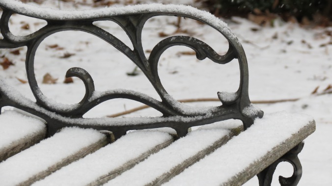 Bench in snow.