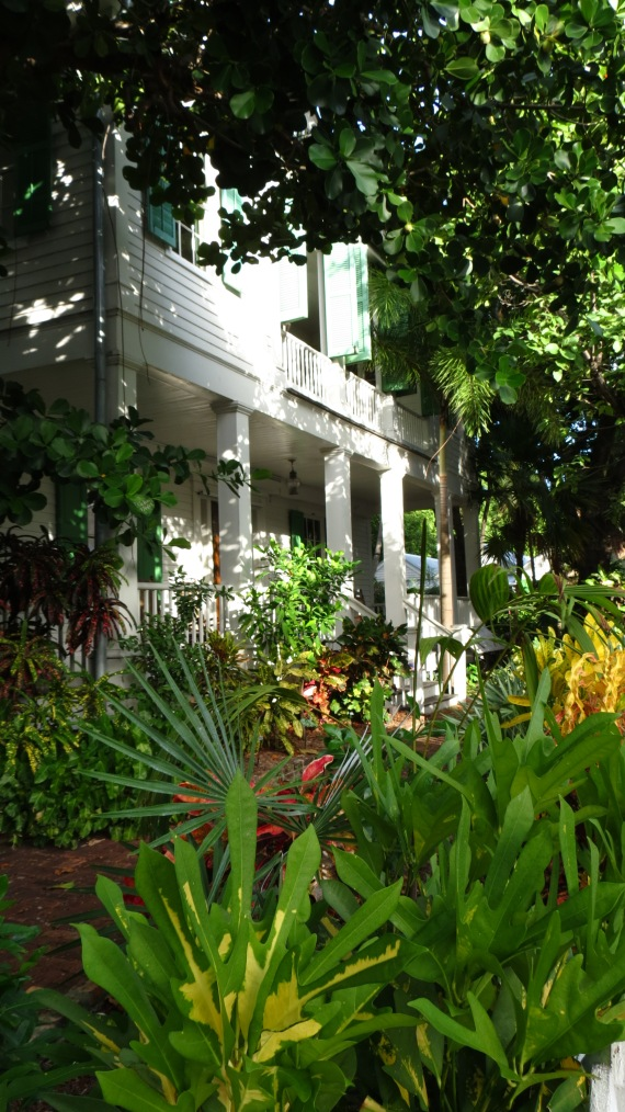 The front yard at Audubon House & Tropical Gardens.