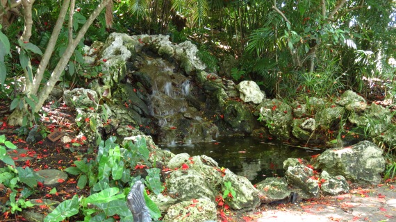 The water feature.