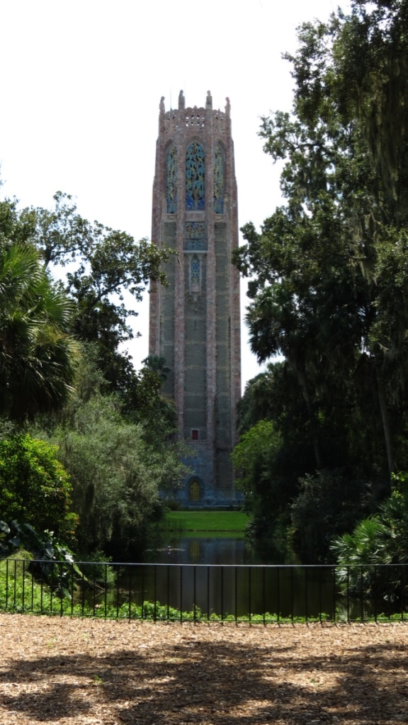The Singing Tower, as seen from the reflection pool.