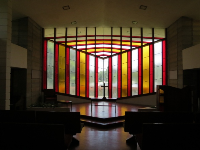 The altar inside Danforth Chapel.